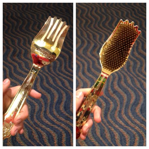 you uncultured swine. use the original, unaltered, fork, not this crazy invention. (reference to the little mermaid)