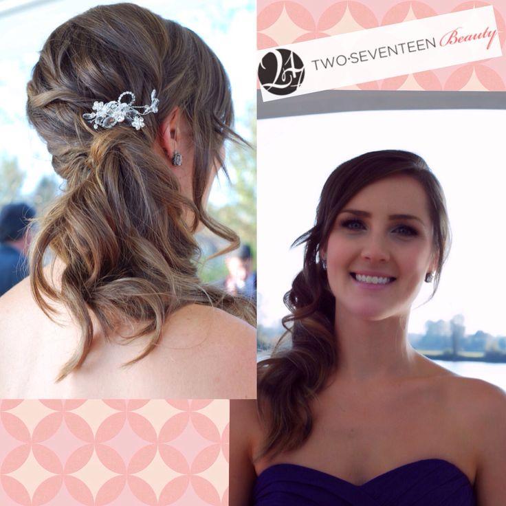 Cute bridesmaid side ponytail