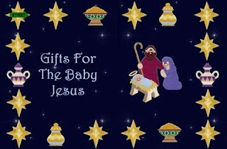 Gifts For Baby Jesus (file folder game)- The object of this game is to be the first to collect gold, frankincense, and myrrh.