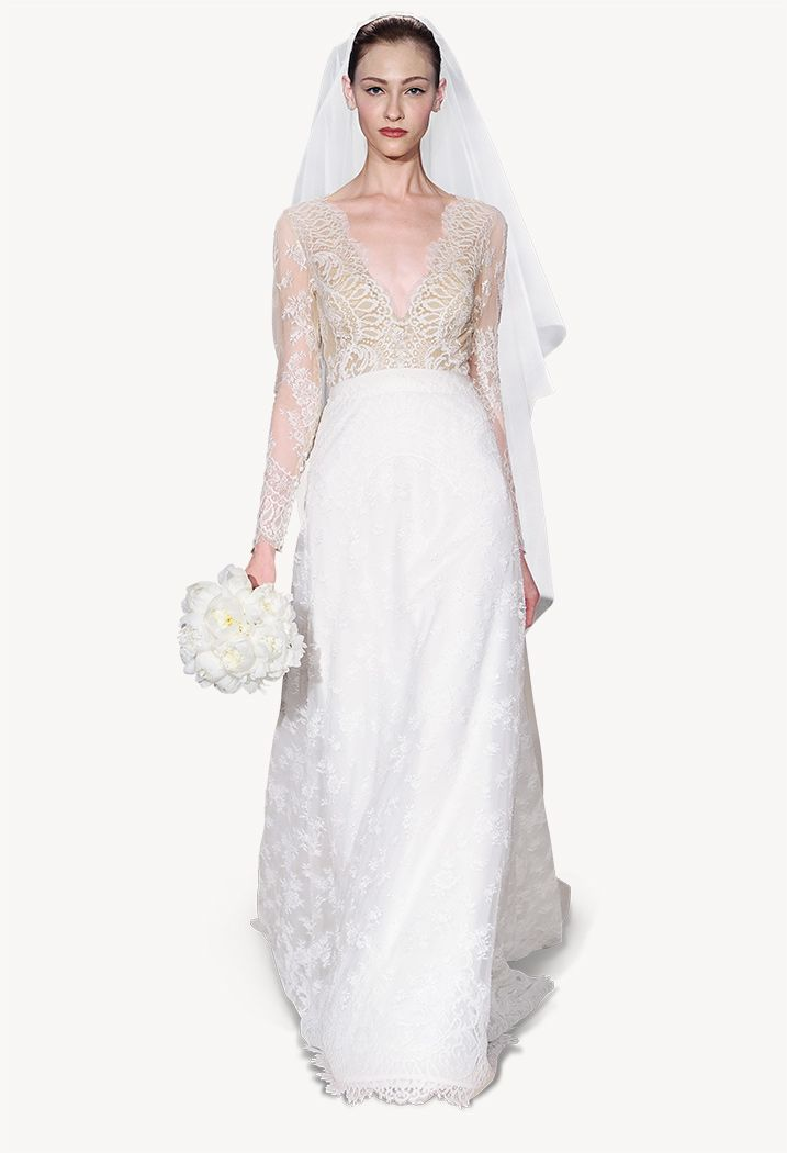 Sweetheart Embroidered Gown Carolina Herrera 84MaX