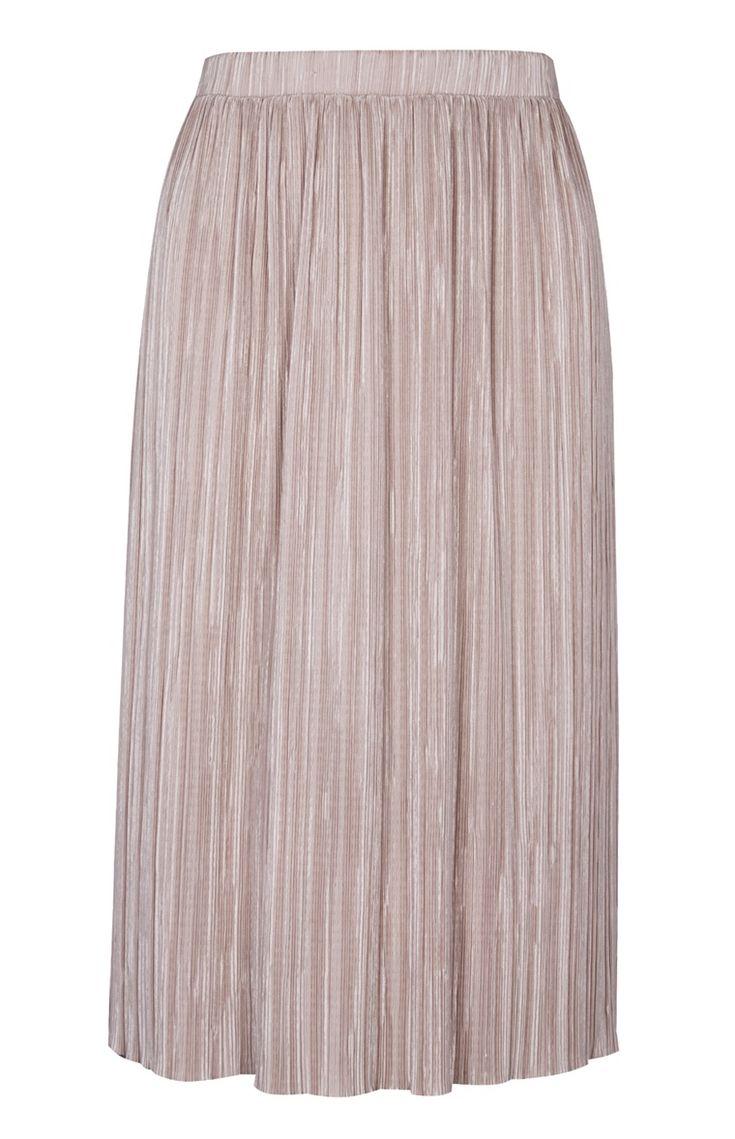 Primark - Falda plisada de color carne 12e