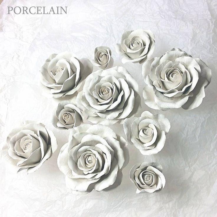 Porcelain roses, white porcelain, working progress, before firing. It will be a ceramic bush of roses  #fineporcelain…»