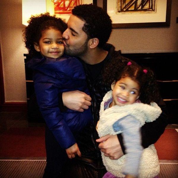 Drake and nieces, Spirit and Sade