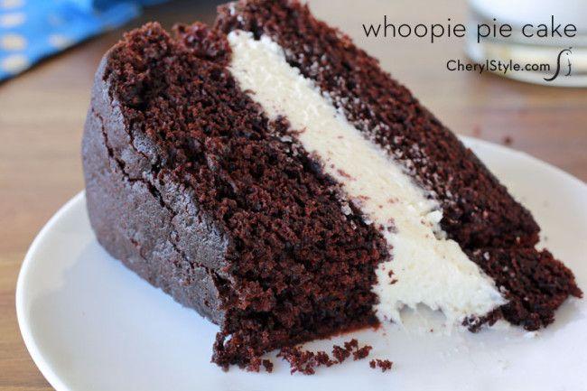 whoopie pie cake recipe with marshmallow cream | CherylStyle.com