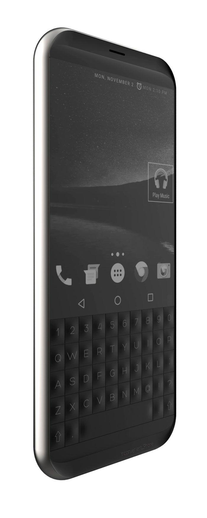 Black Chrome Electronics Ergonomics Keyboard Phone Rubber & Silicon
