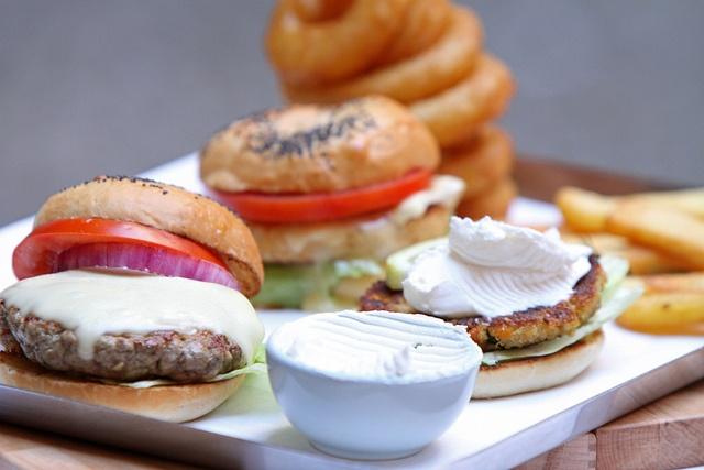 Triple Taste Burger Plate