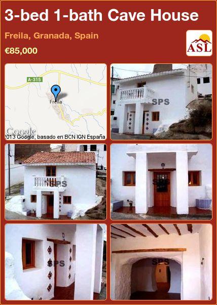 3-bed 1-bath Cave House in Freila, Granada, Spain ►€85,000 #PropertyForSaleInSpain