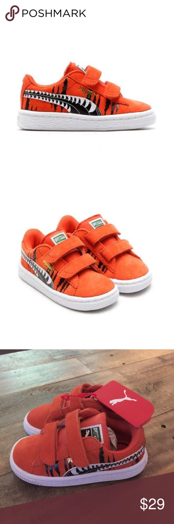 Puma Suede Chemical Comic Kids • size 7 • Bengals How hip will your little one be with these shoes?! Perfect, brand new condition. Especially great for little Bengals fans! Puma Shoes Sneakers