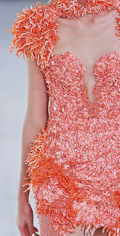 detail shot of an Alexander McQueen Spring 2012 creation...