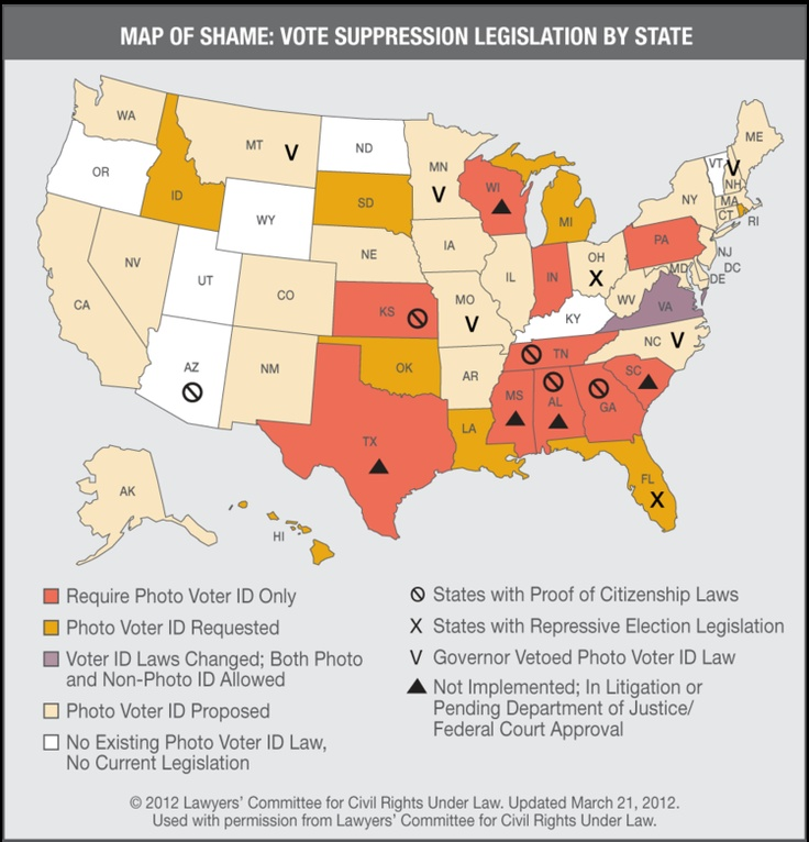 Best VOTING RIGHTS INFOGRAPHICS MAPS ILLUSTRATIONS Images On - Map of voter id laws in the us