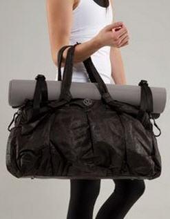 Newluxelululemon Yoganiceblack Destiny Large Duffel Travel Bag Gym Mat Tote