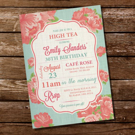 50 best Tea Party Invitations images on Pinterest Invitations - tea party invitation