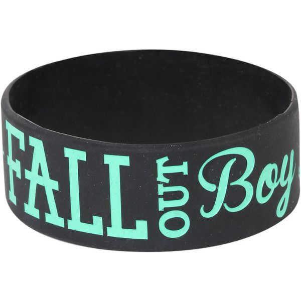 Fall Out Boy Anchor Rubber Bracelet Hot Topic (£15) ❤ liked on Polyvore featuring jewelry, bracelets, bracelet bangle, rubber bracelet, anchor jewelry, rubber bangles and anchor bracelet