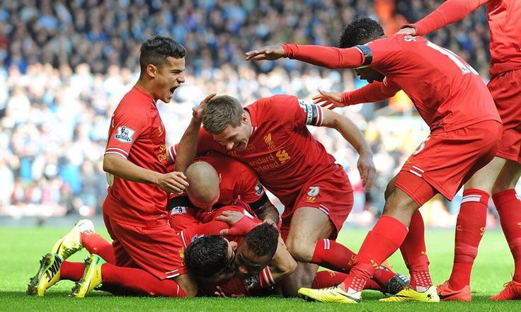 """April 13, 2014, Liverpool FC's 34th match of the Barclays Premier League: Raheem Sterling breaks the deadlock at 05:50', with a superb finish! ... """"and Liverpool took a giant stride towards the Premier League title with a thrilling 3-2 victory over Manchester City on emotionally-charged afternoon at Anfield""""."""