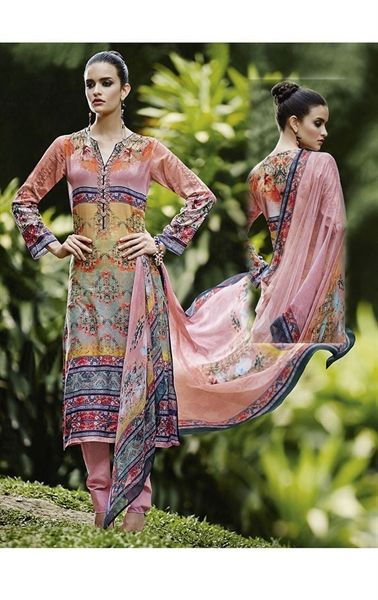 Picture of Dusty Pink Color Linen Salwar Kameez