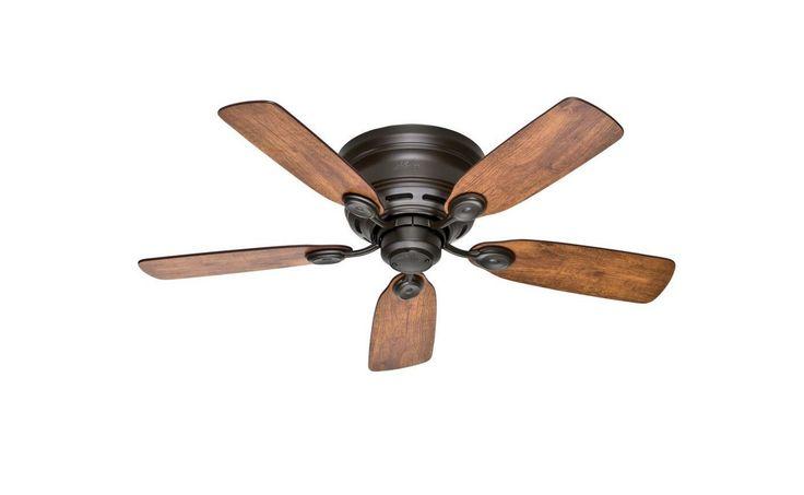 "42"" Low Profile IV Indoor New Bronze Vintage Wood Blades Antique Ceiling Fan"