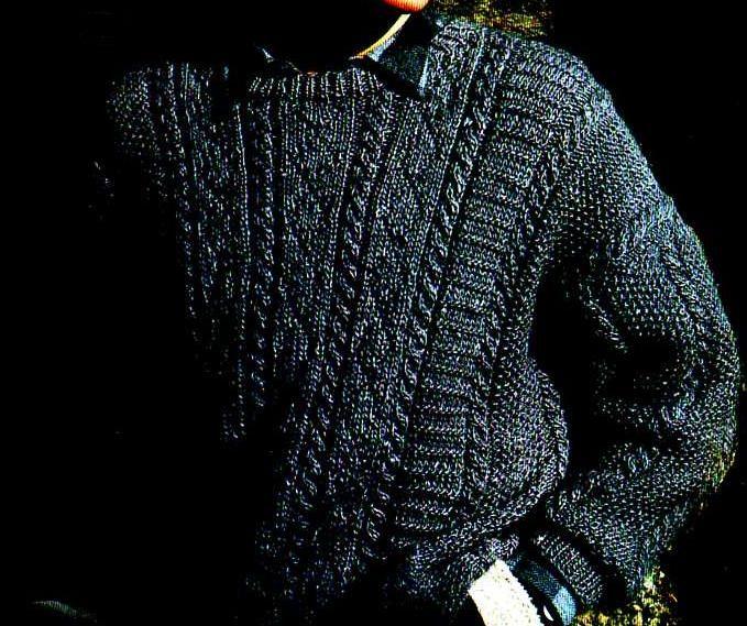 Des bandes de points fantaisie délimitées par des lignes de torsades pour ce pull chiné aux couleurs d'automne. Aiguilles : 4 et 5 Le pull à torsades Le pull à zigzags