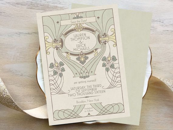Vintage-Inspired Save the Date Cards What a way to announce your special day than with these vintage-inspired Save the Dates! They are printed on the