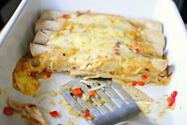 Lighter Chicken Enchiladas | Savory | Pinterest