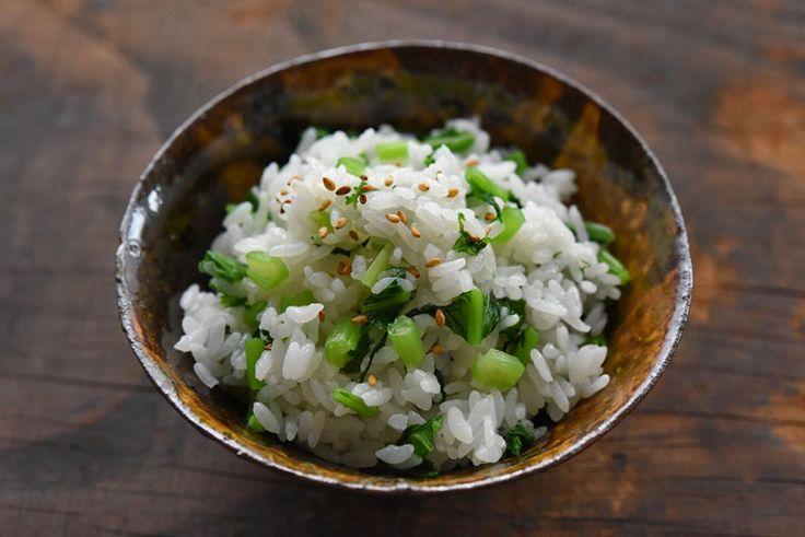 菜めし(菜飯)のレシピ/作り方:白ごはん.com