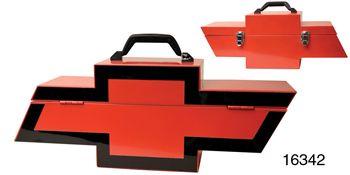 Chevy Portable Tool Box, Red/Black Bow Tie Logo