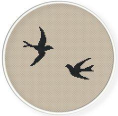 Instant Download,Free shipping,Cross stitch pattern, Cross-StitchPDF,swallows