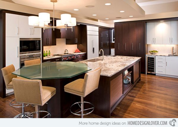 Kitchen Islands Add Beauty Function And Value To The: 13 Best Kitchen Islands With Attached Tables Images On