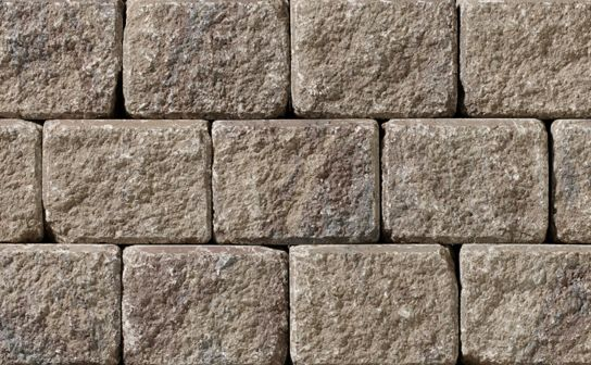 Ortana Plus Sandalwood Wall by Oaks Landscape Products. Ortana Plus can be easily converted for designs that feature double-sided walls, seat walls and driveway borders. This durable product offers limitless applications as timeless as they are appealing.