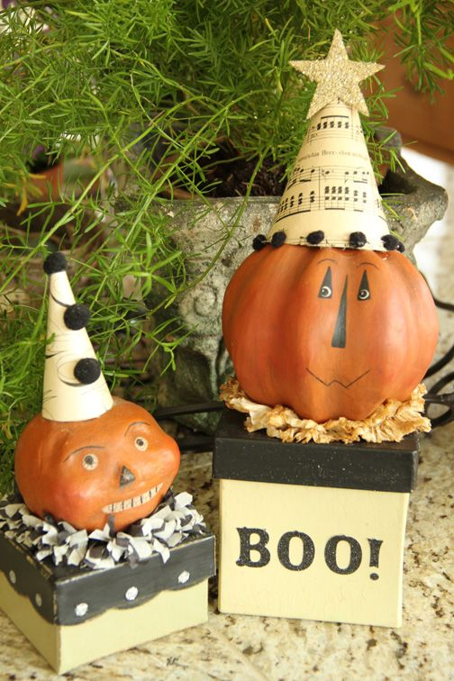 paper clay pumpkin tutorial