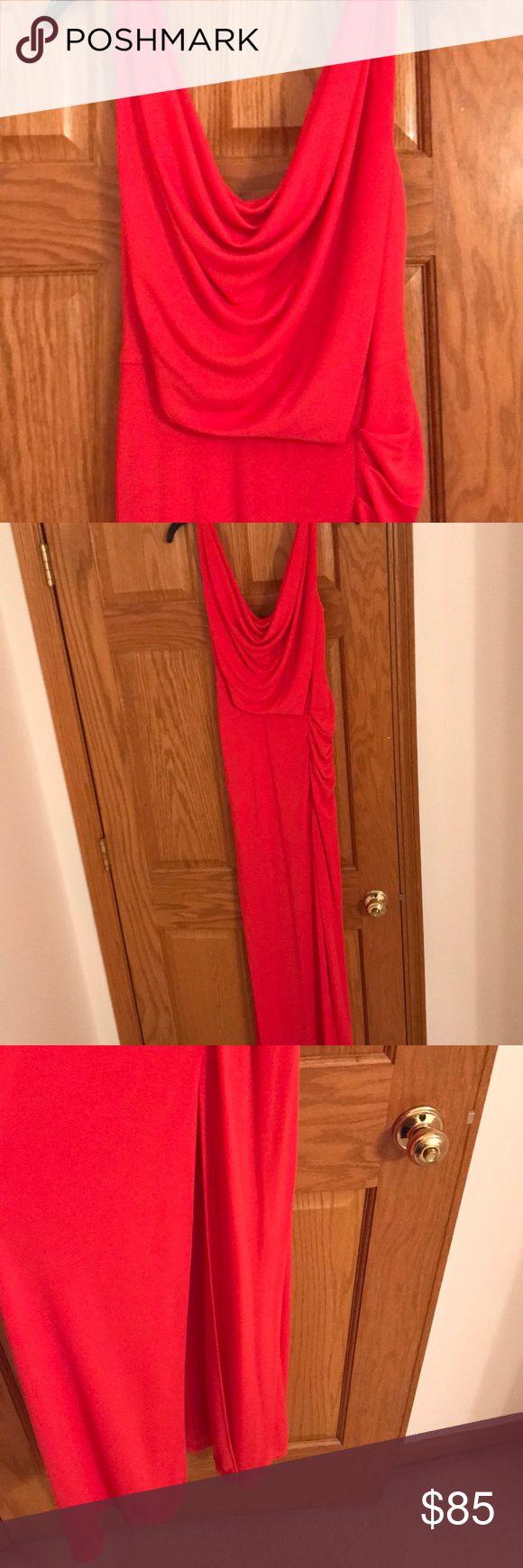 Bcbg elegant long dress Long coral dress elegant with low scoop back BCBG Dresses Prom