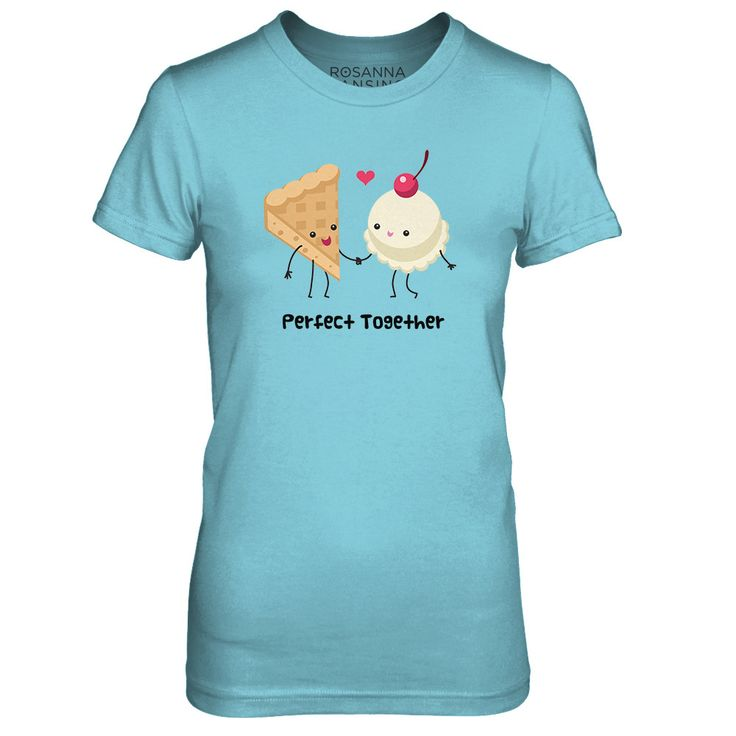 """Rosanna Pansino's FIRST EVER Merch! """"What's the point of Apple Pie, without the Ice Cream on the side?"""" Enjoy this shirt from my very first original song, 'Perfect Together.'  Sweatshirts and more available in the style drop down!! (Child Sizes also available in drop down: Kids = 2-6 / Youth = 8-12)  **WORLDWIDE SHIPPING**"""