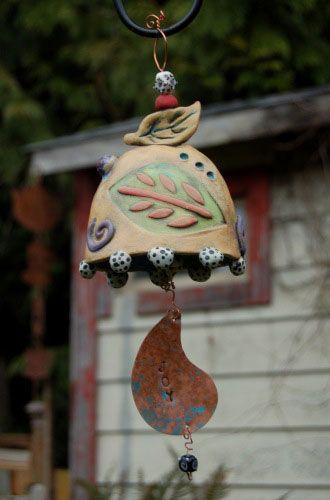 Clay garden bells