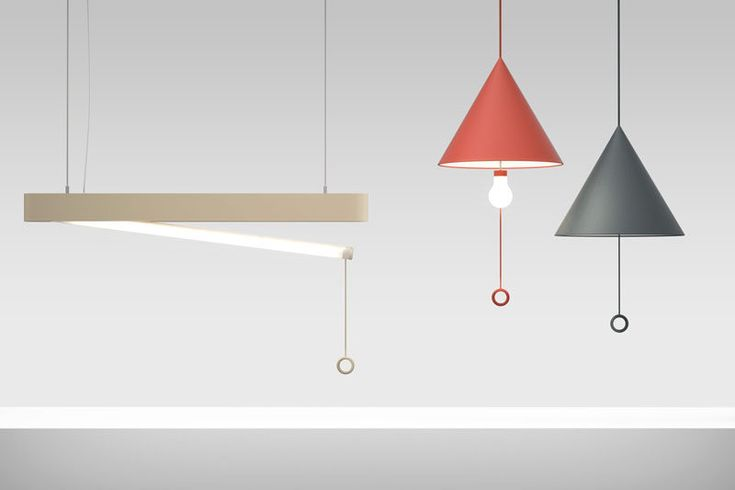 These OOPS! lamps look just like every other lamp until you turn one on and the light bulb or tube 'accidentally' drops down from the shade, creating an 'oops' moment.