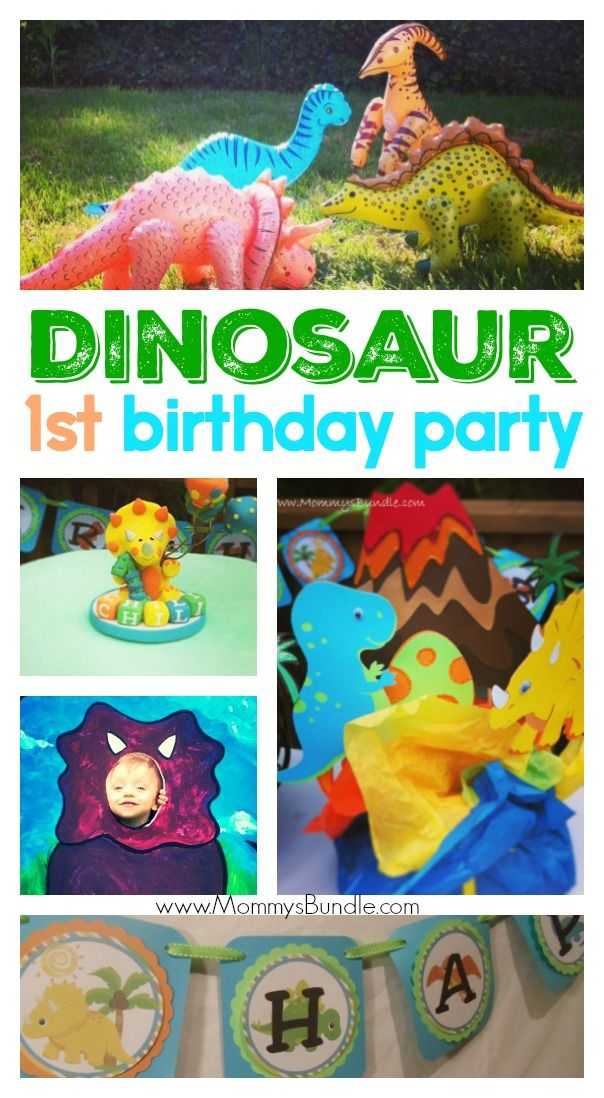 CUTE! Kids will love this dinosaur themed birthday - perfect for boys or girls! A fun party idea for baby's first birthday too!