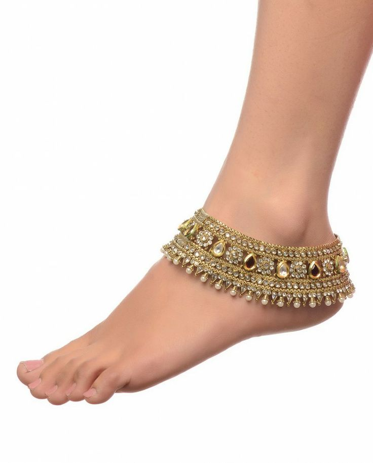 Exclusively.In  Heavily Adorned Payal Pair