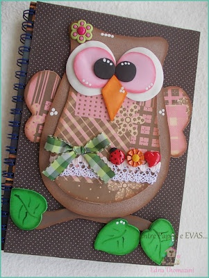 Coruja capa de caderno