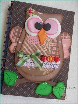 lechuza capa de cuaderno