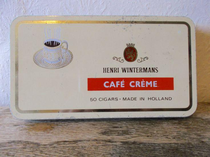 Vintage Tobacciana Metal Cigar Tin by Henri Wintermans by Retromagination on Etsy