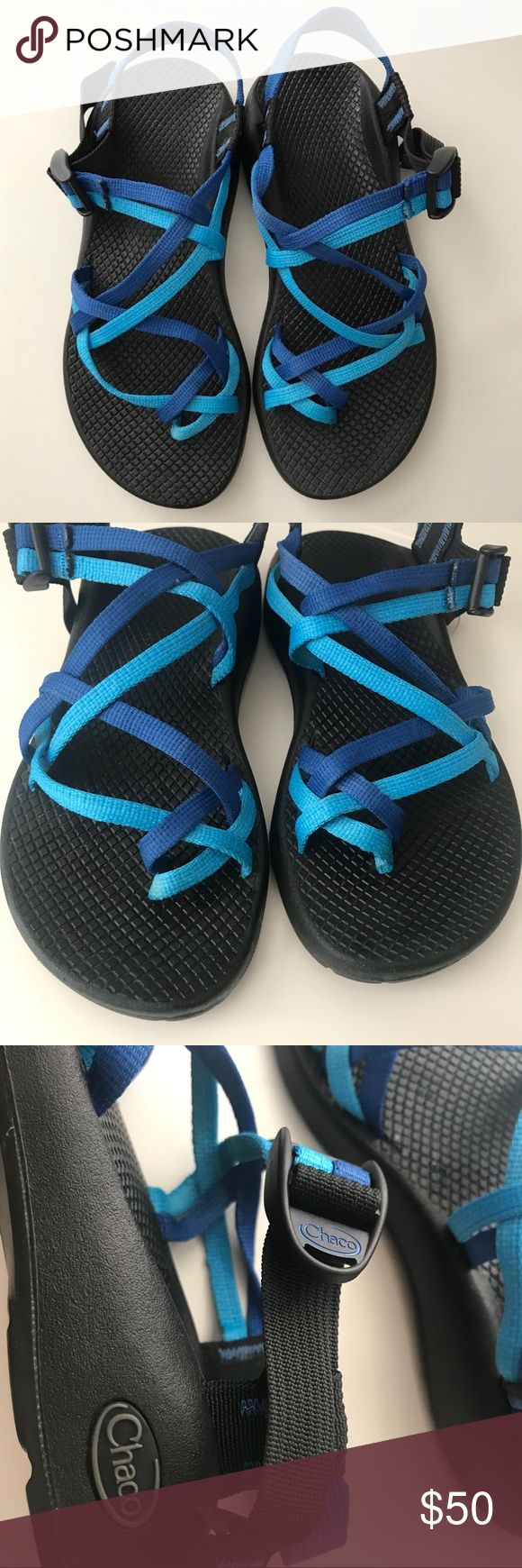 Chaco Blue Strappy Sandals Chaco Blue Strappy Sandals - Size 7 - Excellent condition. Chaco Shoes Sandals