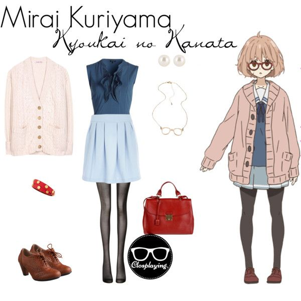 """Mirai Kuriyama - Kyoukai no Kanata KNK - Beyond the Boundary"" by closplaying on Polyvore"