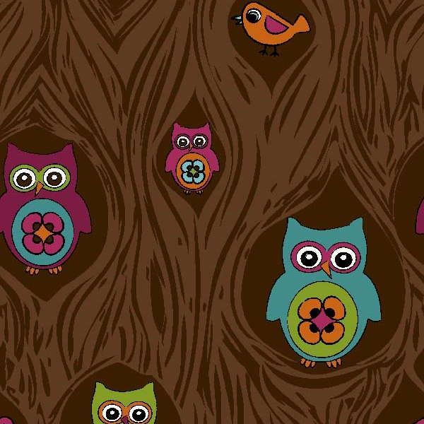 Springs Creative - Peeping Owls Corduroy - cotton fabric