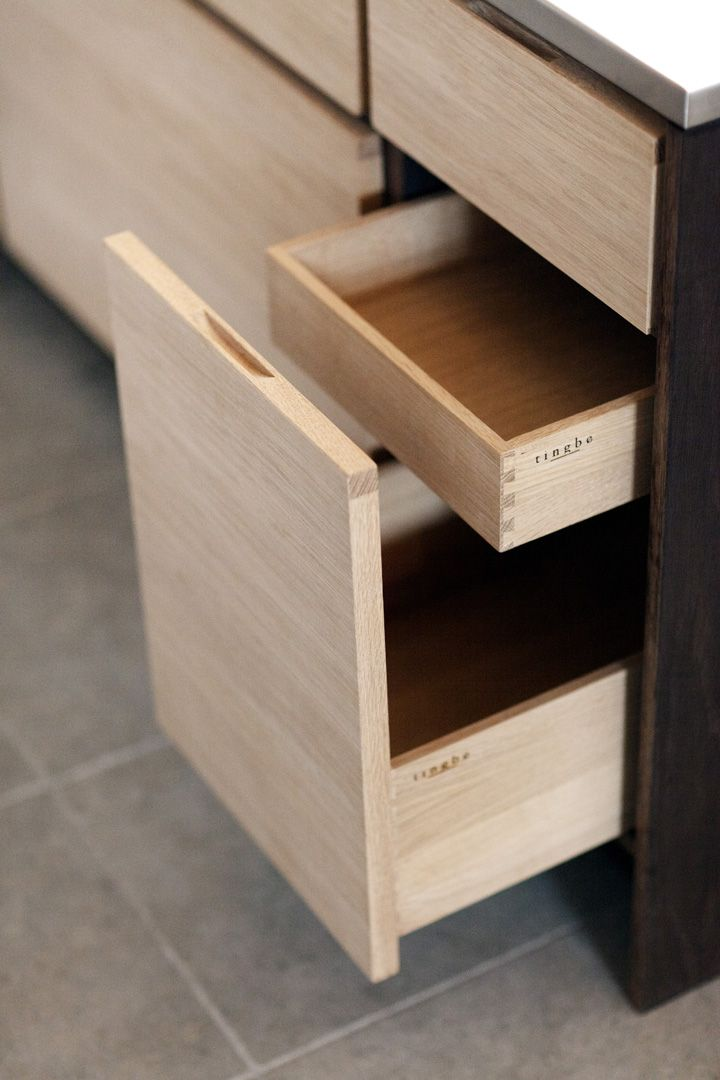Tingbo kitchen dovetail corners on kitchen drawers, sleek cabinets, pretty