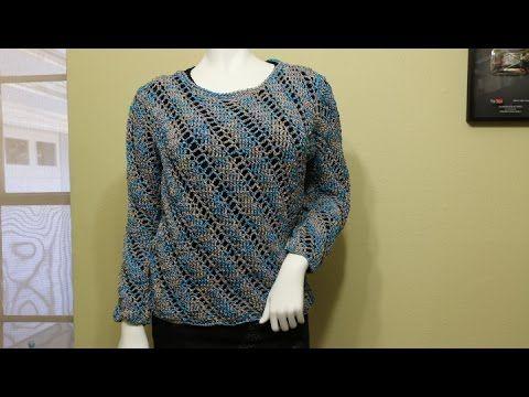 Blusa ou suéter de crochê - parte 1 de 3 - YouTube