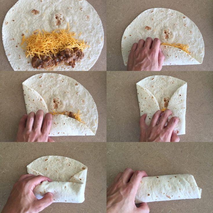 How to Fold a Burrito | Beef, Bean, & Cheese Freezer Burritos Recipe