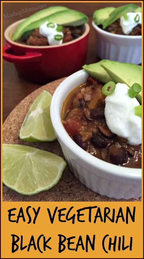 Here's a simple yet flavorfulrecipe to add to your Meatless Monday meal planning options: Easy Vegetarian Black Bean Chili! This one is both super affordable and super easy to throw together with ingredients you probably already have in your pantry. Even the avowed carnivores in the family enjoyed this recipe!Be sure to browse through theMeatless Monday category for additionalvegetarian main dish ideas, too. Easy Vegetarian Black Bean Chili Ingredients 2 Tbsp olive oil 1/2 a medium y...