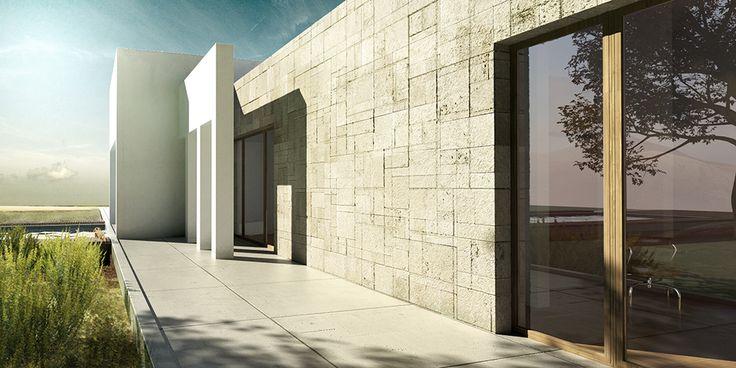 house FOBE, Guilhem Eustache, stone, facade