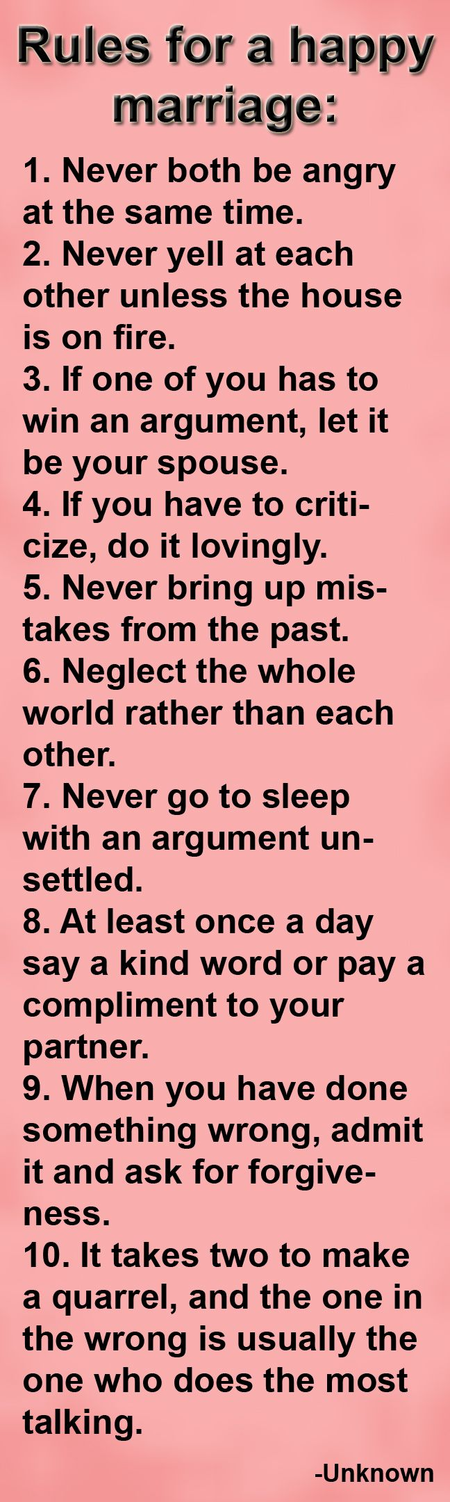 Rules for a happy
