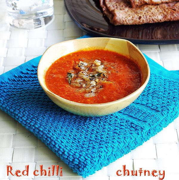 how to prepare red chilli onion chutney