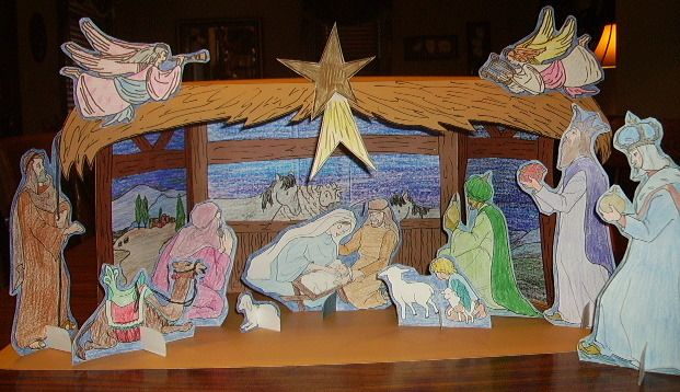 Make Your Own Diorama: Paper Nativity Set For Kids To Make