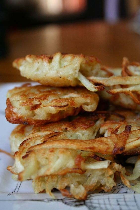 Crispy Potato Pancakes. My grandmother's were the best!!!
